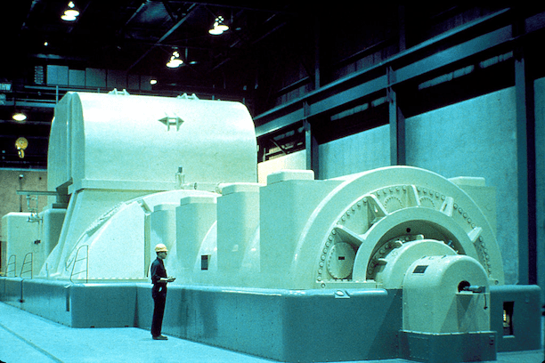 NRC Image of Modern Steam Driven Turbine Generator. (Photo: NRC)