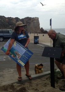MPA Sign getting installed at Westward Beach