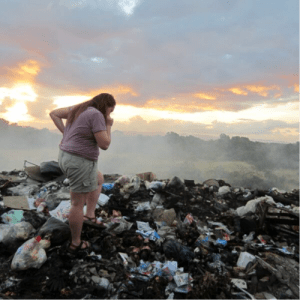 A photo of myself from the landfill on Taveuni.