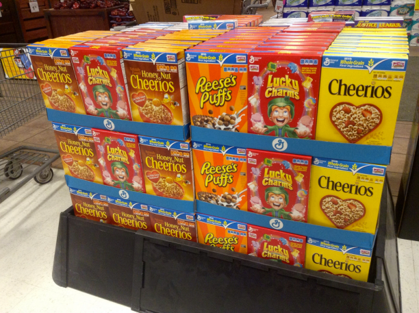 General Mills breakfast cereals. (Photo Credit: Mike Mozart / Flickr)