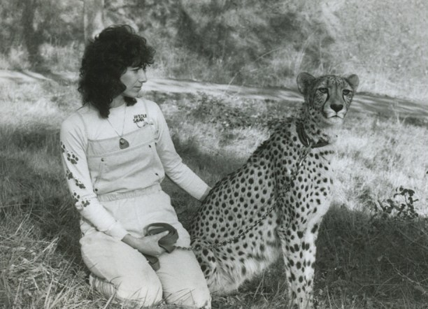 Dr. Laurie Marker with Khayam. (Photo via CCF)