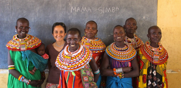 The Mama Simba women with Shivani in the classroom where they are learning to read and write. (Photo Credit: Ewaso Lions)
