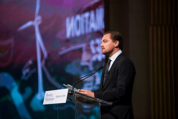 Leonardo DiCaprio speaking at the C40's Climate Summit for Local Leaders. (Photo Credit: C40)