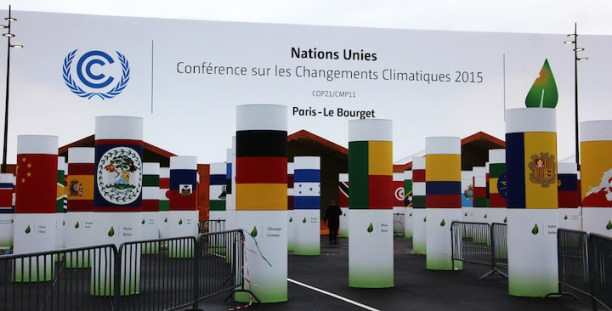 Entrance to Le Bourget UN climate Conference COP21. (Photo Credit: Takver / Flickr)