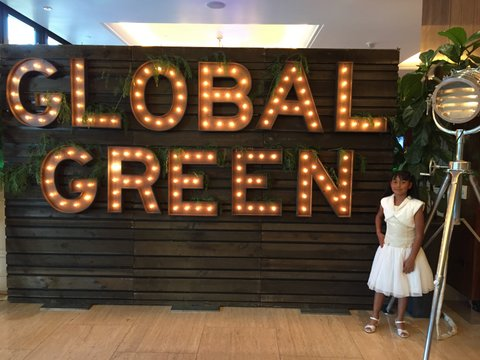 Nereida at the Global Green Oscar Party. (Photo: B. Bernstein-Yamashiro)