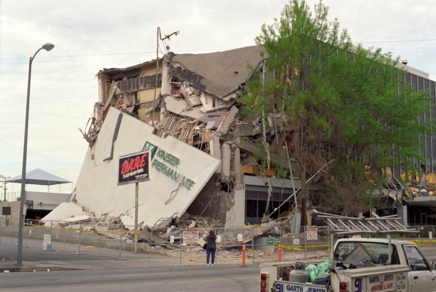 Kaiser Permanente Building after the Northridge Earthquake of January 17, 1994. (Photo Credit: Gary B. Edstrom)