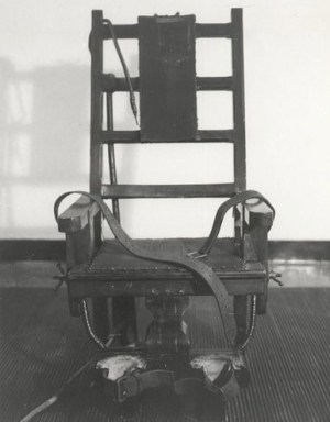 Electric chair used at Sing Sing prison. (Photo via WikiMedia Commons)