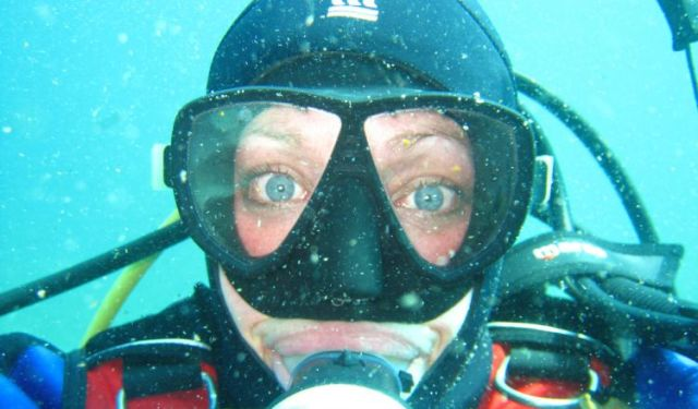 Melanie Knight, SCUBA-selfie. © Ocean to Eye Level