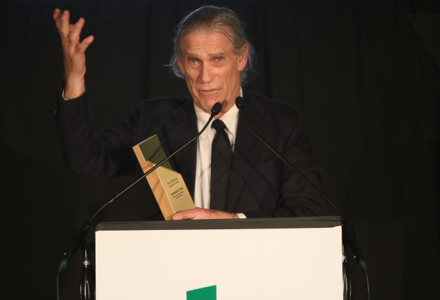 Founder of Earth Day Texas Trammell S. Crow onstage at the Global Green 20th Anniversary Awards. (Photo by Tasia Wells/Getty Images for Global Green)
