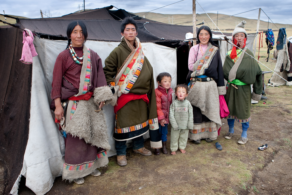 nomad family on the grasslands. What does the future hold for their children?