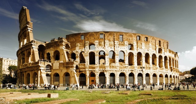The Colosseum, commissioned by Emperor Vespasian and constructed between 72 AD and 80 AD. Rome, Italy. (Photo Credit: Sam Valadi / Flickr)
