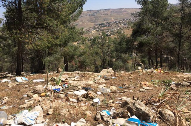 An ugly view: Illicit garbage dumps mar the beautiful, wide landscapes of Jordan. (Photo: Dana Ritzmann / FUTURE PERFECT)