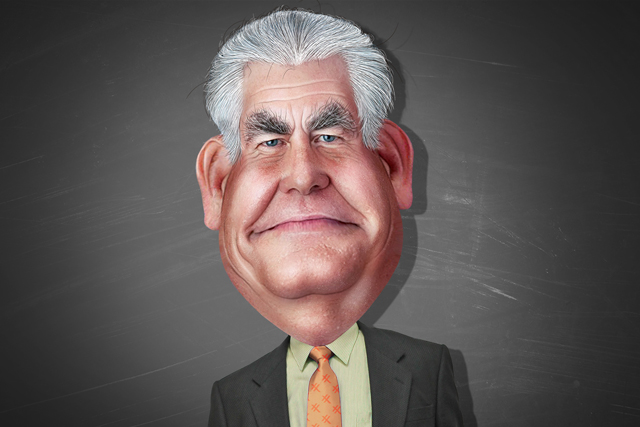 ExxonMobil CEO Rex Tillerson is President-elect Trump's pick for secretary of state. (Illustration: DonkeyHotey / Flickr)