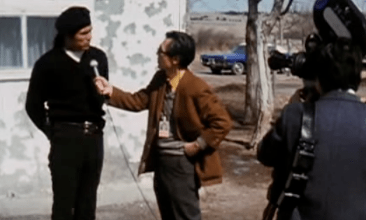 AIM leader Dennis Banks speaking to reporters at Wounded Knee. (Photo: PBS, We Shall Remain)