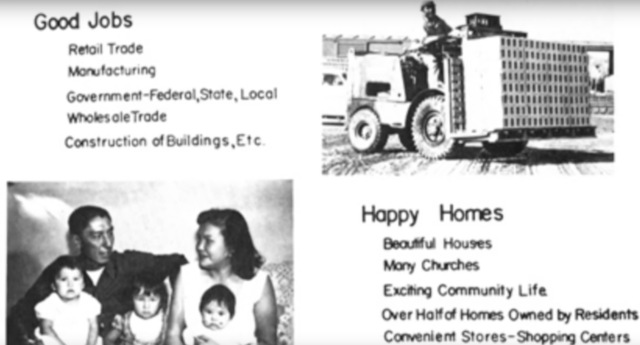 "Relocation propaganda. (Photo: ""Wounded Knee 1973: An Inevitable Outcome - Part 1 / YouTube)"