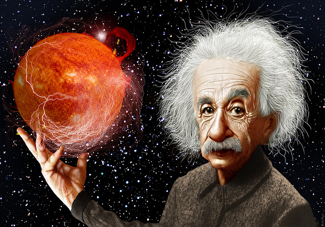 Albert Einstein would not approve of science's place in the Trump administration. (Illustration: DonkeyHotey / Flickr)