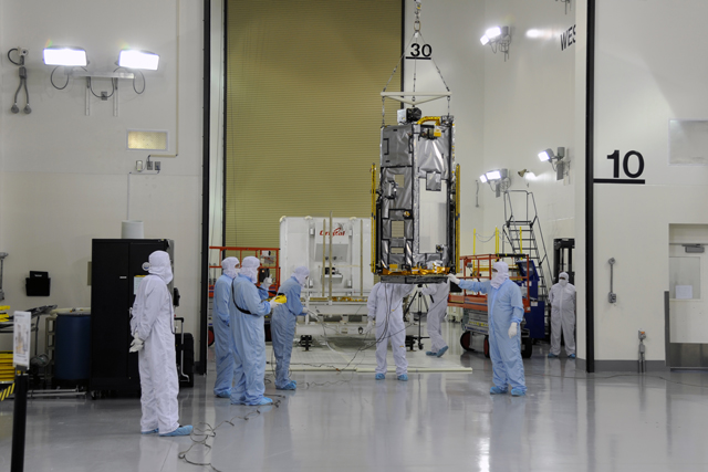 The Orbiting Carbon Observatory instrument. (Photo: NASA / JPL)
