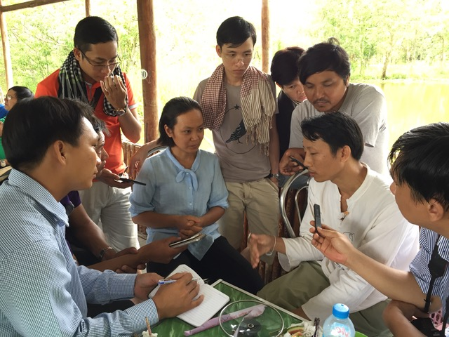 Journalists at a workshop in Mekong. (Photo: Adam Hunt / The Mekong Eye)