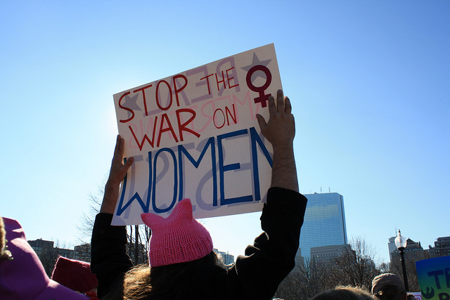 The Boston Women's March. (Photo: Carly Hagins / Flickr)