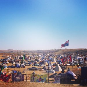 The protest camp at Standing Rock. (Photo: Erica Wohldmann)