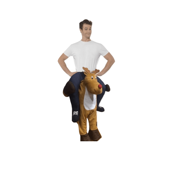 giant riding reindeer natale 712834