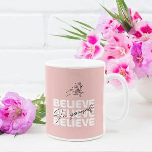 Believe in Yourself Ceramic Mug Planet Keiki Eco-friendly Home Goods Sustainable Gifts