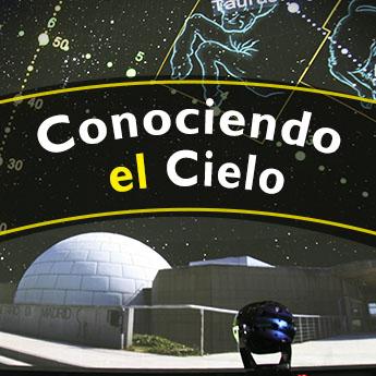 Cartel: Conociendo el cielo (programa de planetario en directo)