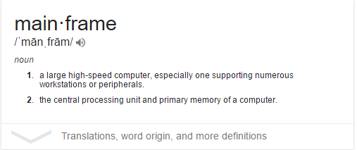 Mainframe definition
