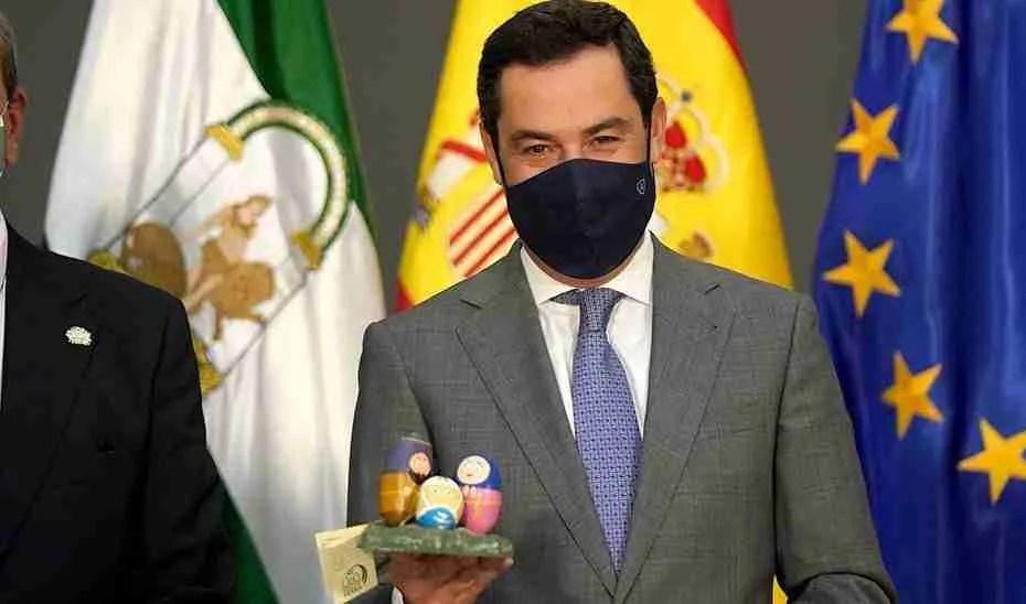 Juanma Moreno in Seville this week