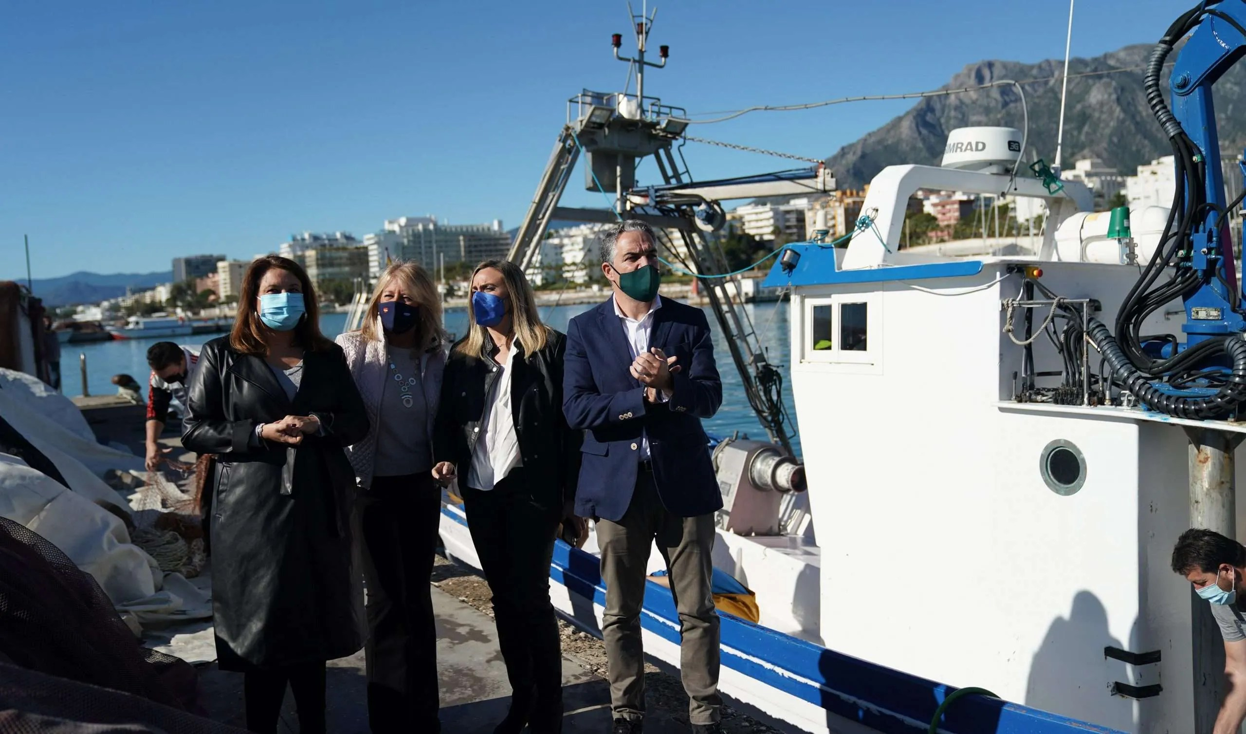 Junta de Andalucia councillors at Marbella Port