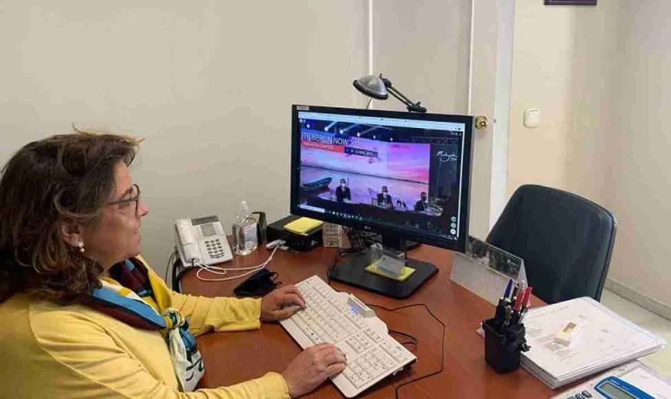 Laura de Arce at the virtual ITB