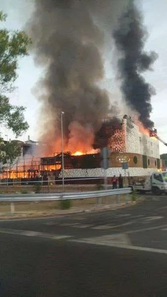 The fire destroyed the Sisu hotel