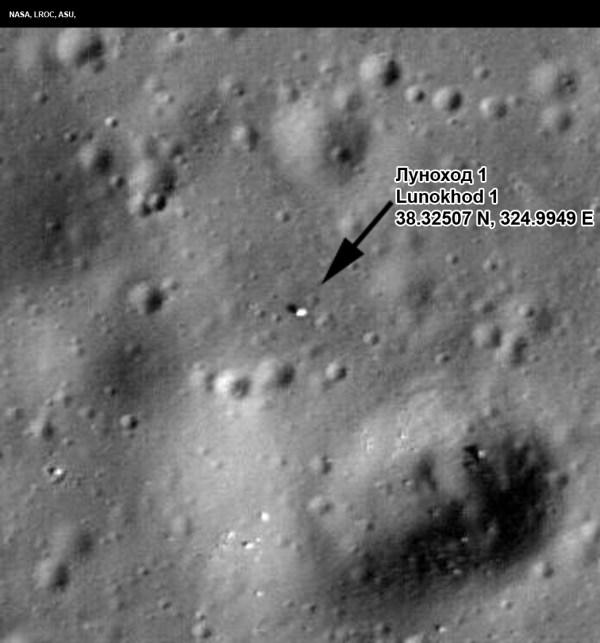 Lunokhod1 Coordinates