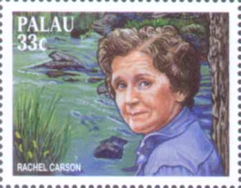 Palau's stamp honoring Rachel Carson
