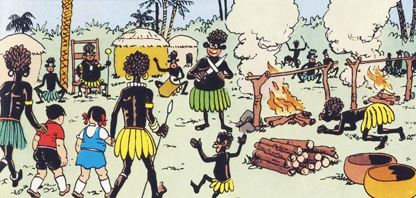 Image result for african mud hut savages