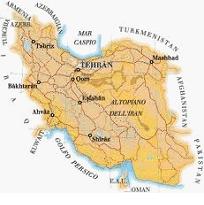 Mappa dell'Iran (fonte supermappe.com)