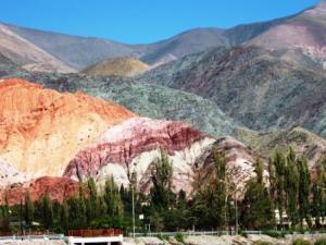 """Il """"Cerro de los sietes colores"""", provincia del Nord-Ovest"""