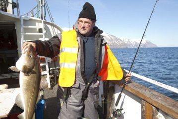 Helgi with a Dalvik cod