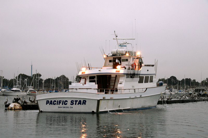 a San Diego party boat at the quay