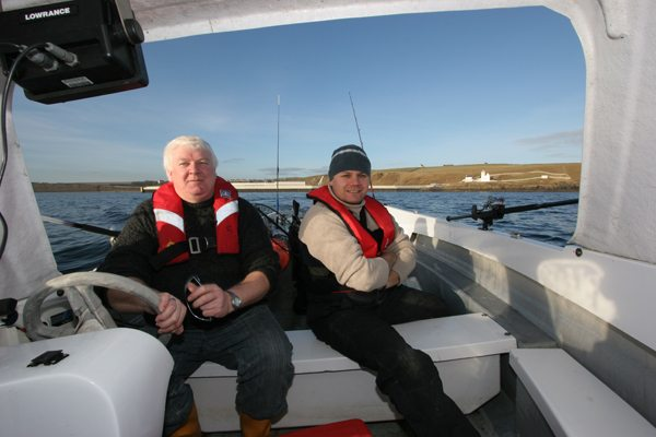 David and Steve off Holborn Head