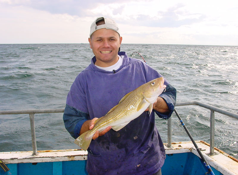 Steve Souter with an east coast codling