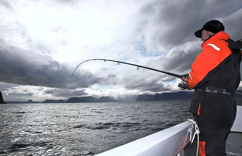 Stuart Creswell into an Icelandic fish