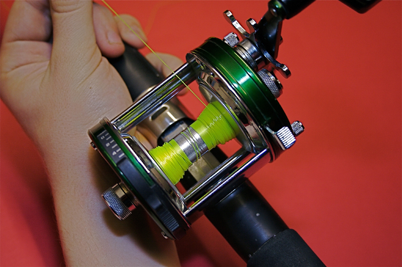 Step 3 - balancing a shore multiplier reel for casting