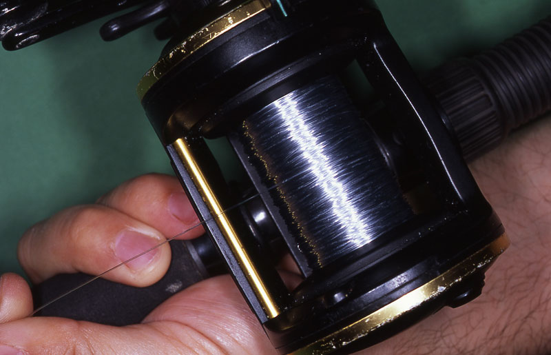 Step 3 - securely spooling a reel with braid