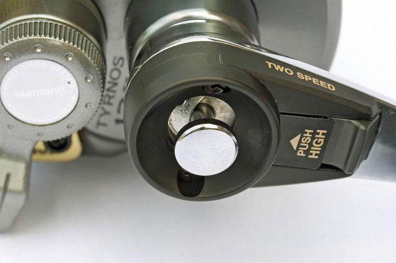 Shimano Tyrnos 12 2-speed reel button