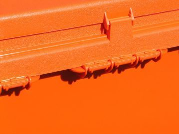 hinge on a Sportsmans Utility Dry Boxes