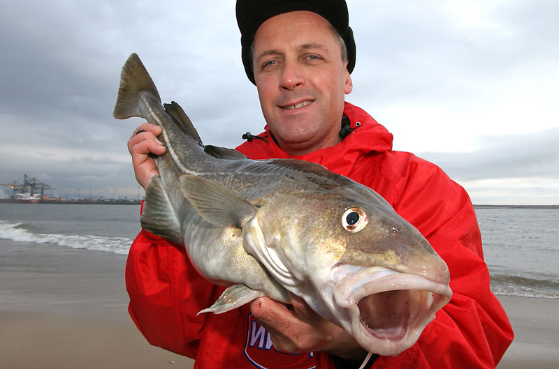 Steve Walker with a River Tees cod