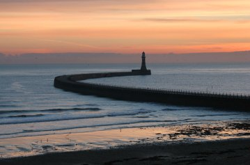 Roker pier Sunderland at sunrise