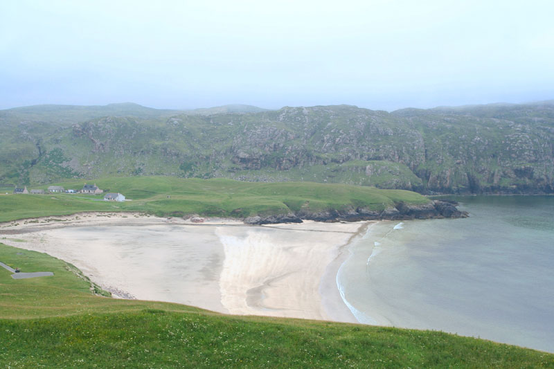 Cliffs beach on the west side of Lewis
