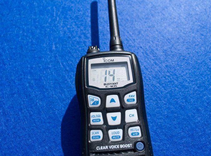 a handheld VHF